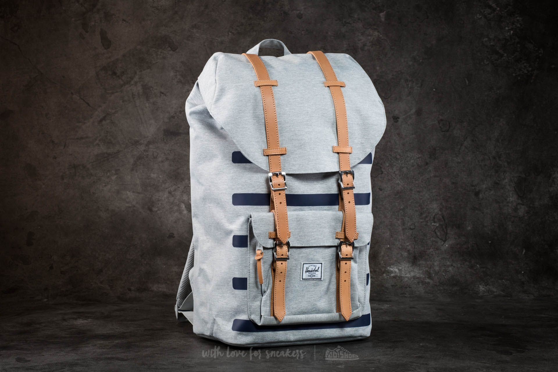 Herschel Supply Co. Little America Backpack Light Grey Croshatch Stripe Footshop – FR