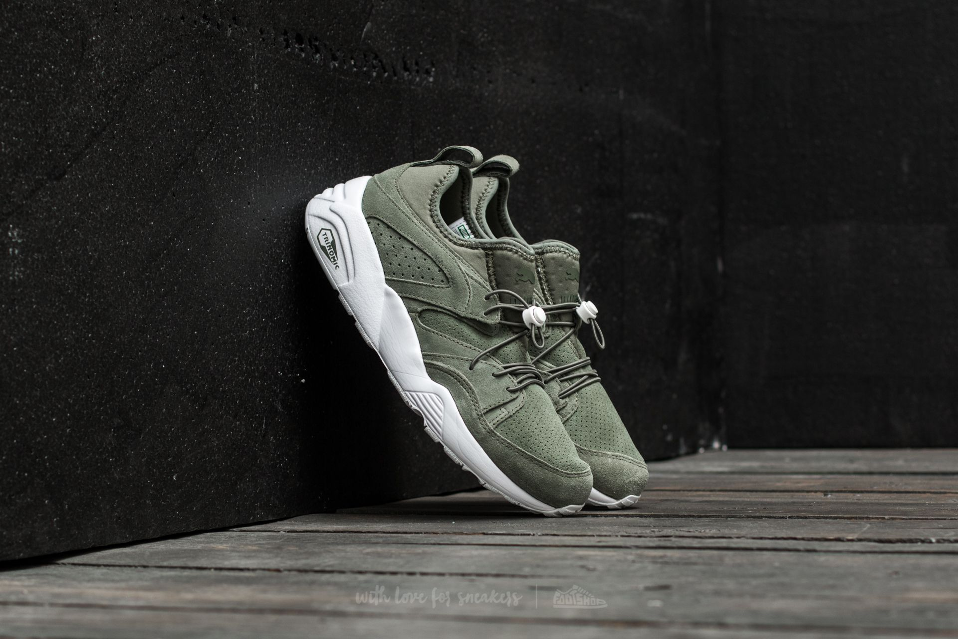 Puma Blaze Of Glory Soft Agave Green-Agave Green-White Footshop – FR
