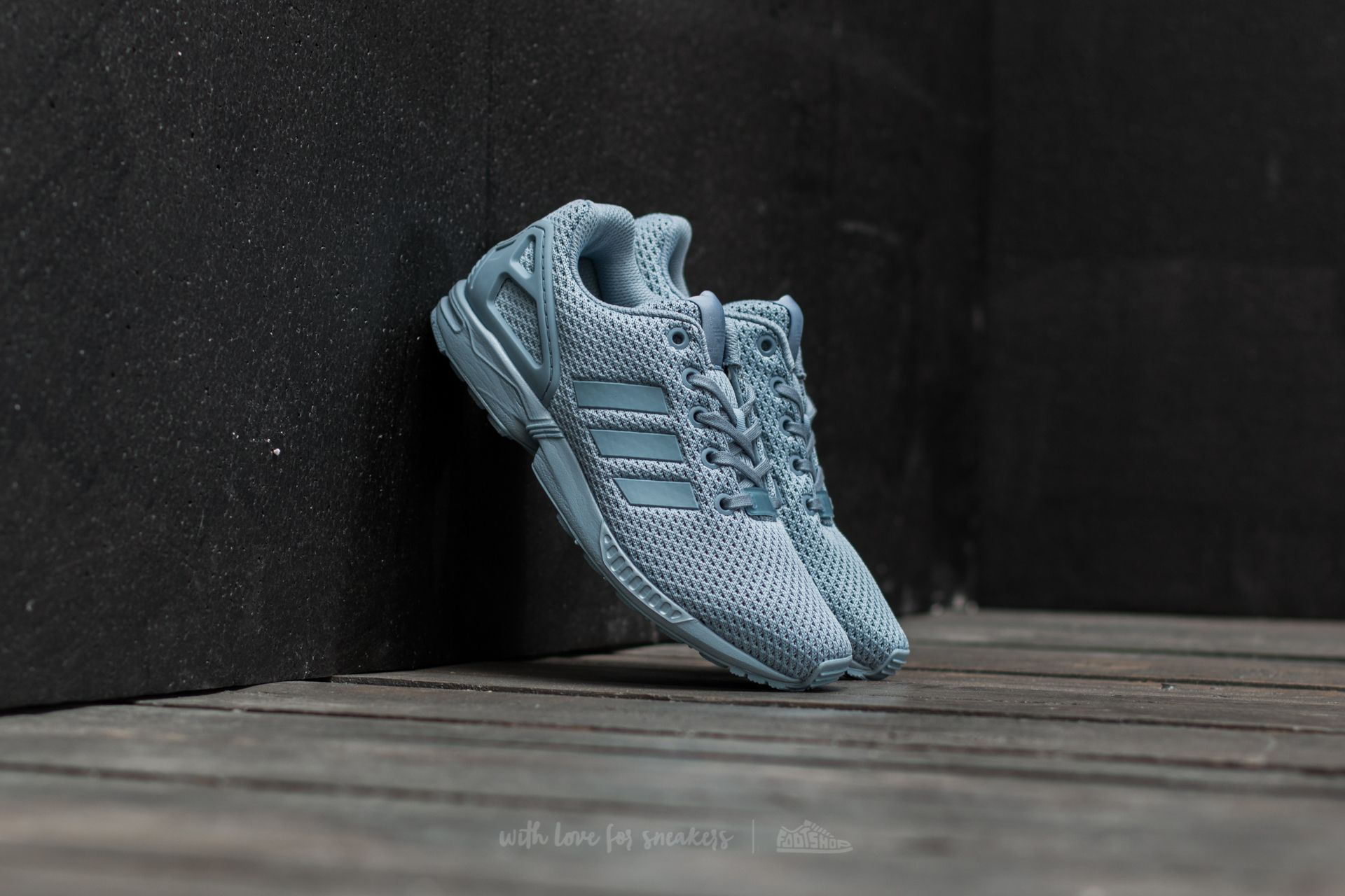 adidas ZX Flux J Tactical Blue/ Tactical Blue/ Tactical Blue Footshop – FR