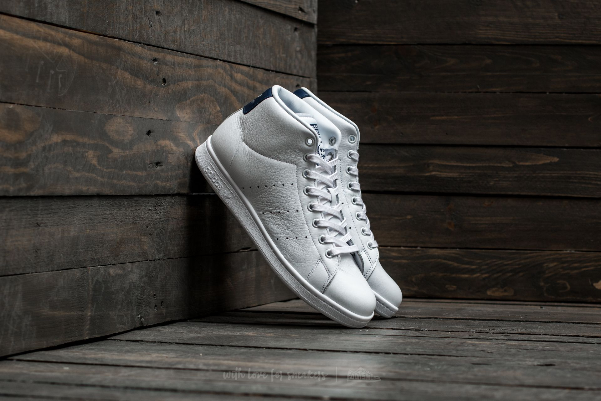 adidas Stan Smith Mid Ftw White/ Ftw White/ Dark Blue Footshop – FR