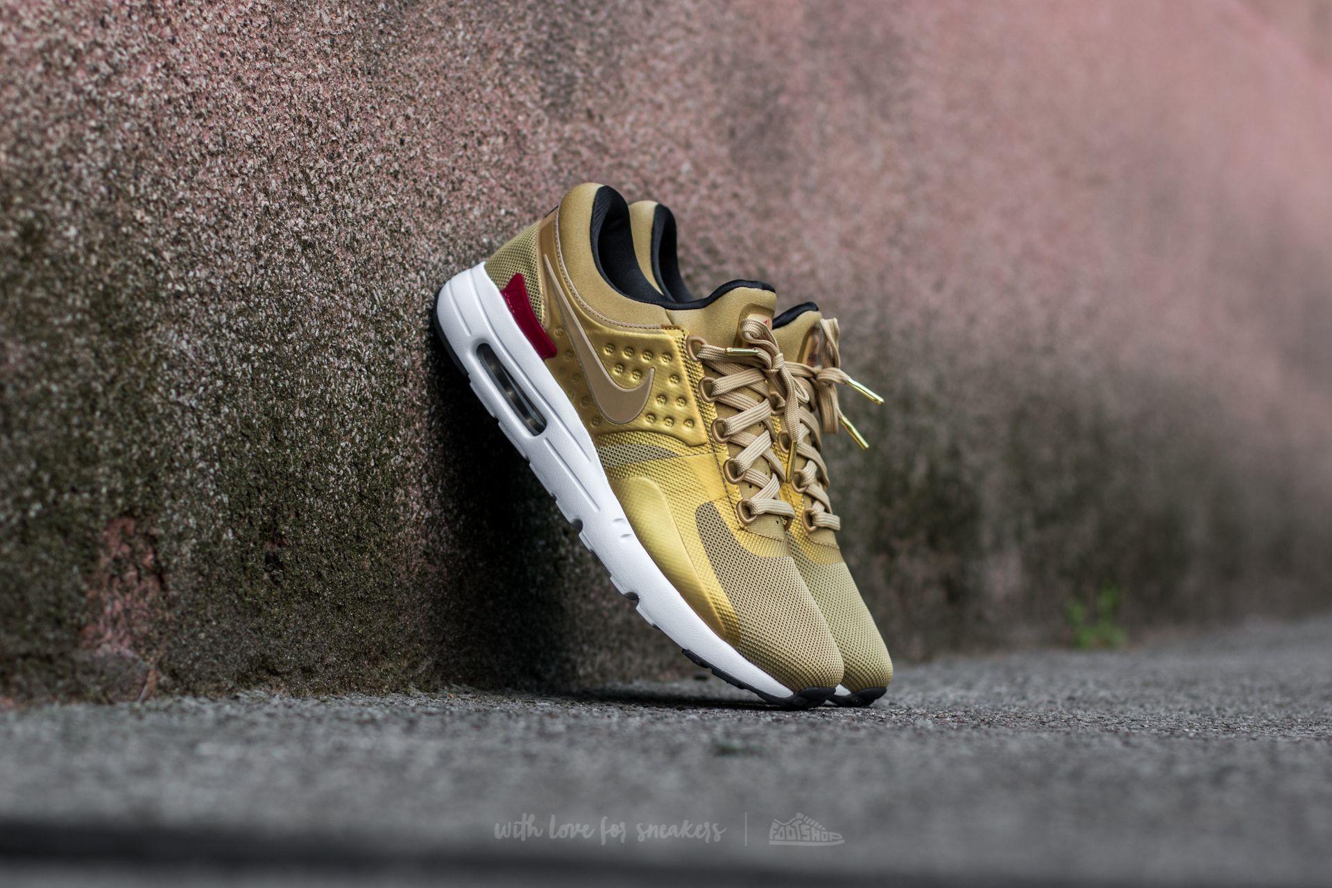Nike W Air Max Zero QS Metallic Gold/ Varsity Red Footshop – FR