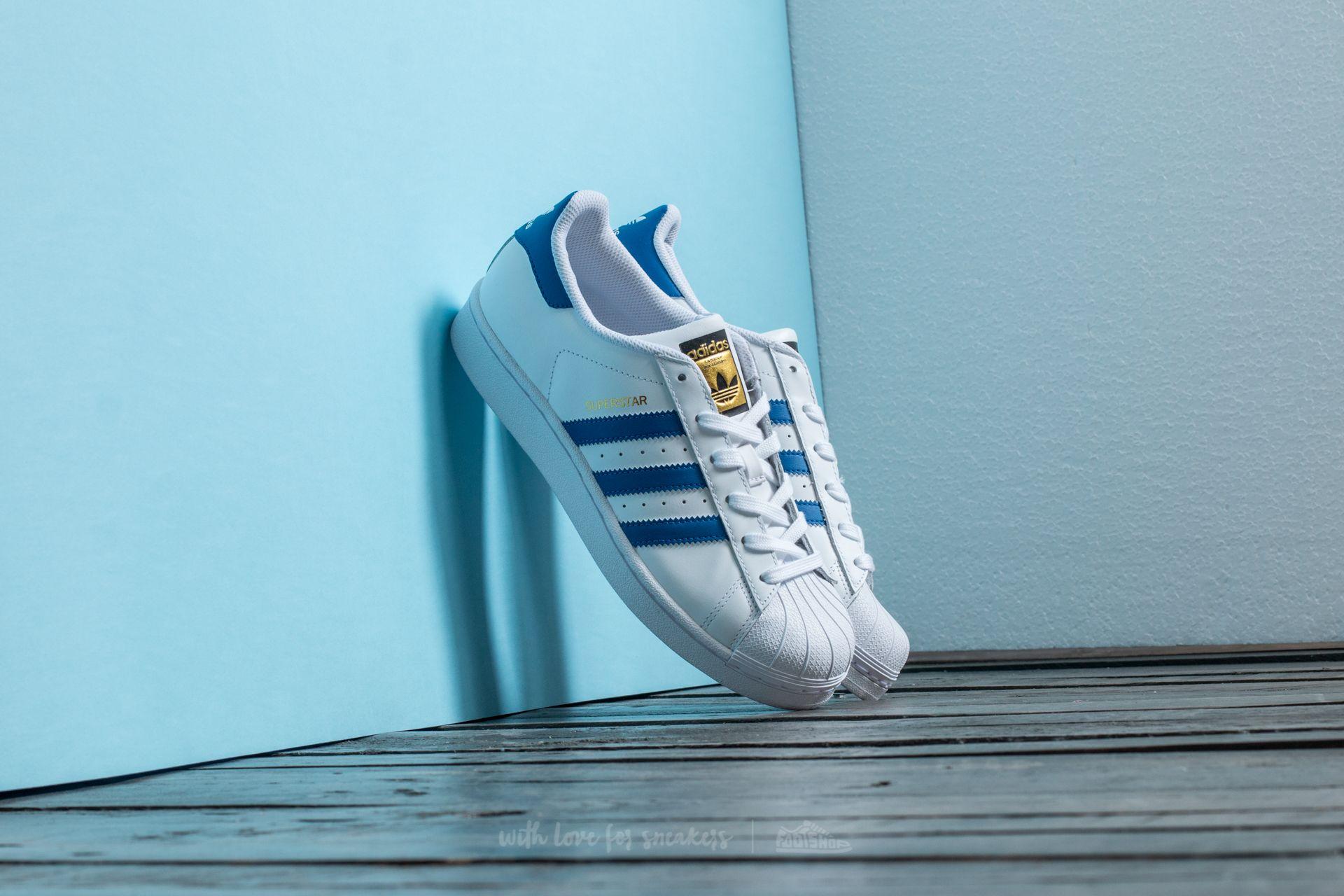 adidas Superstar Ftw White/ Eqt Blue/ Eqt Blue Footshop – FR