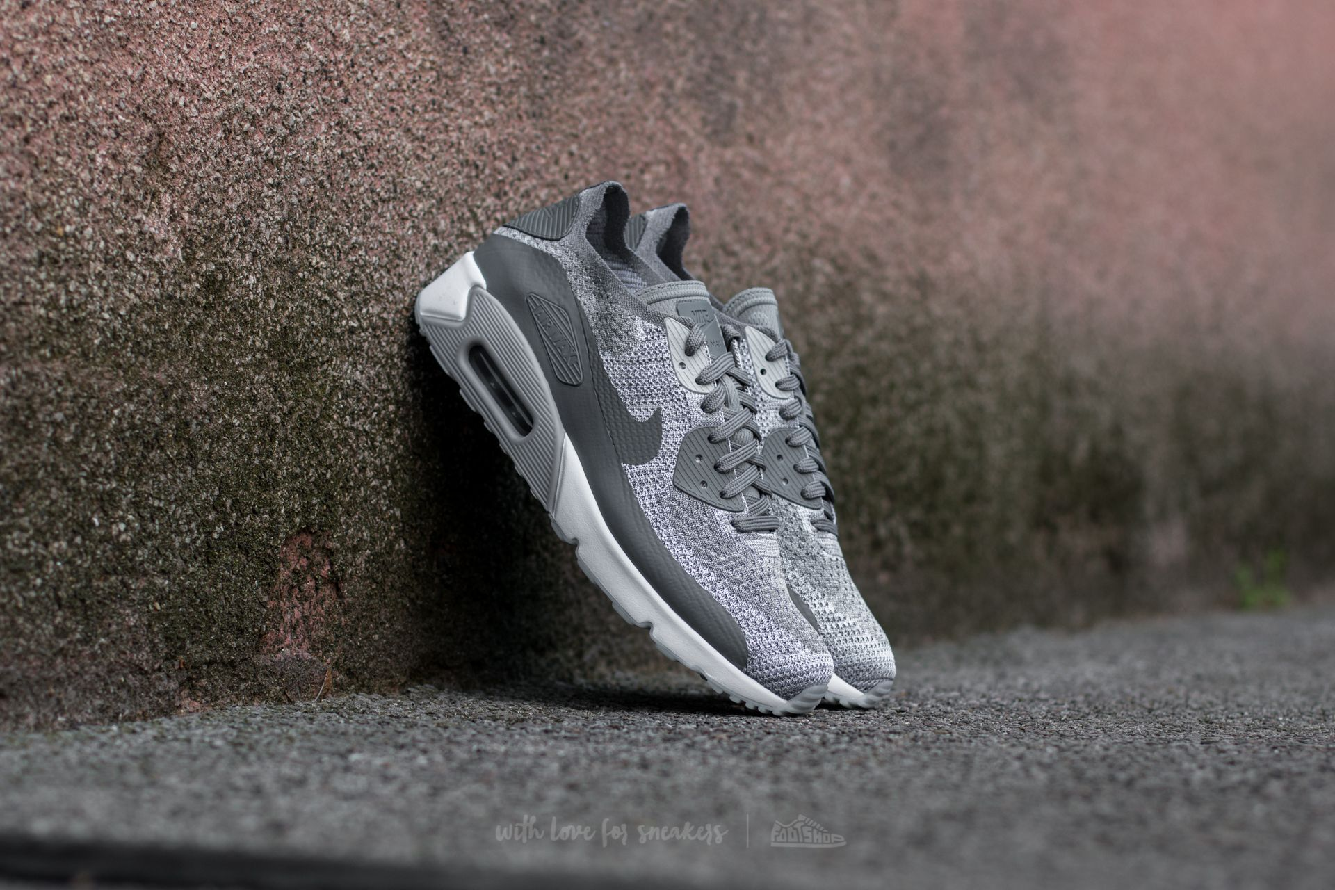 Nike Air Max 90 Ultra 2.0 Flyknit Pure Platinum/ Cool Grey-White Footshop – FR