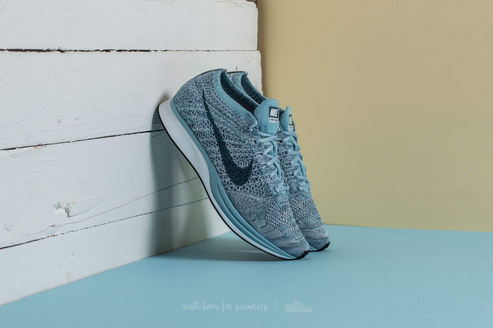 Nike Flyknit Racer White/ Legion Blue-Mica Blue Footshop – FR