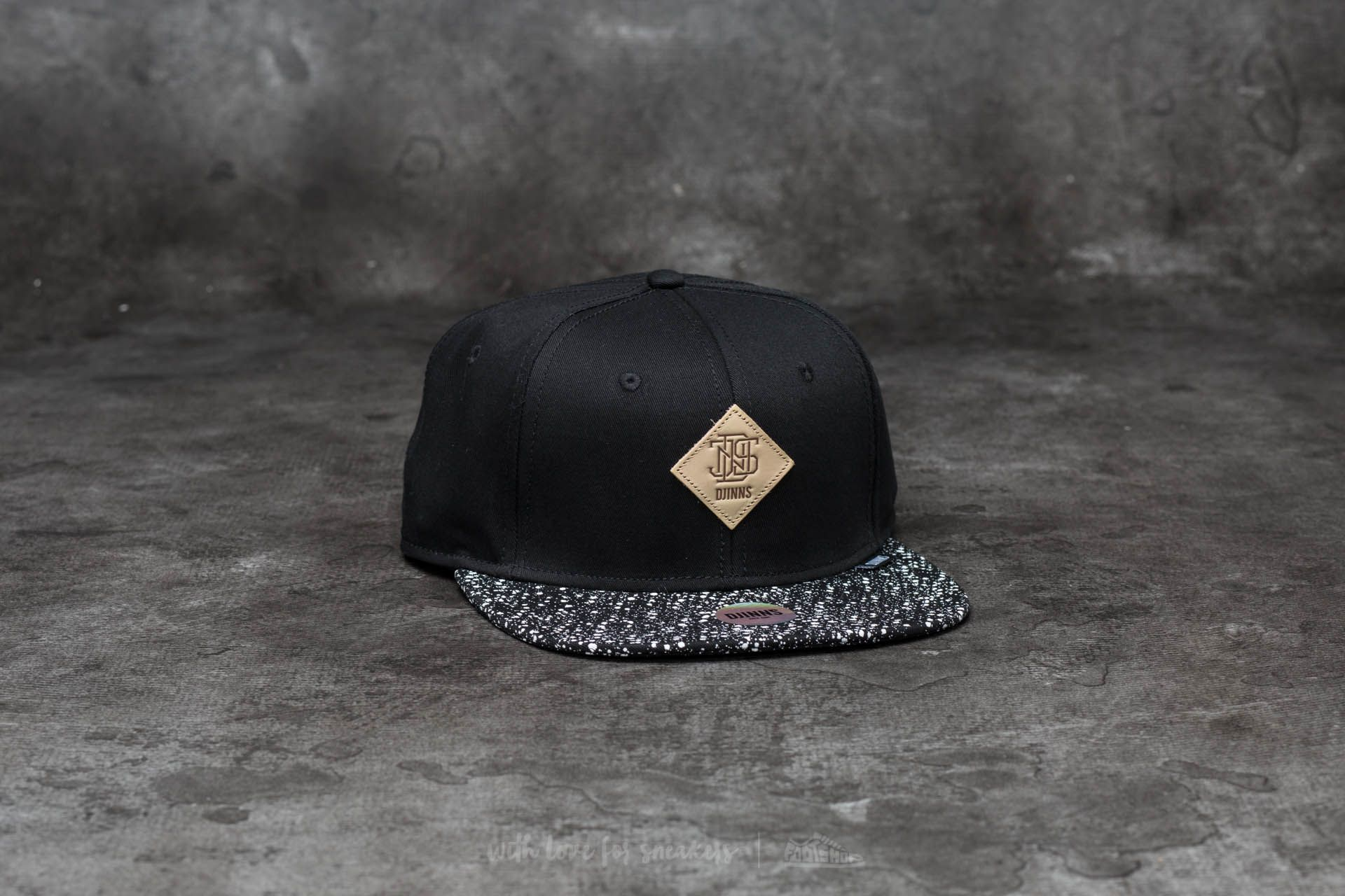 Djinn's 6 Panel Patch Spots Snapback Black Footshop – FR
