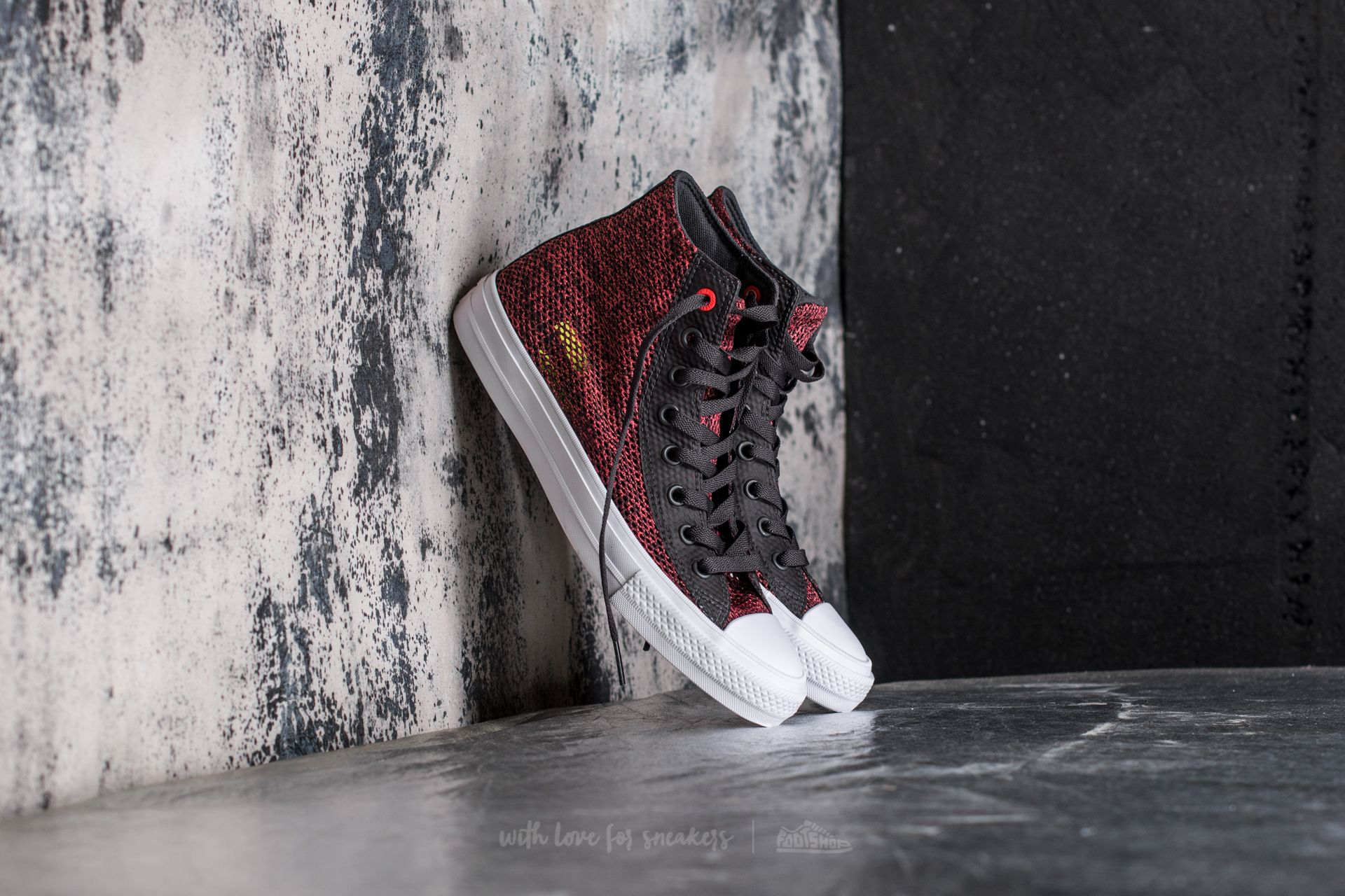 Converse Chuck Taylor All Star II Hi Almost Black/ Ultra Red/ White Footshop – FR