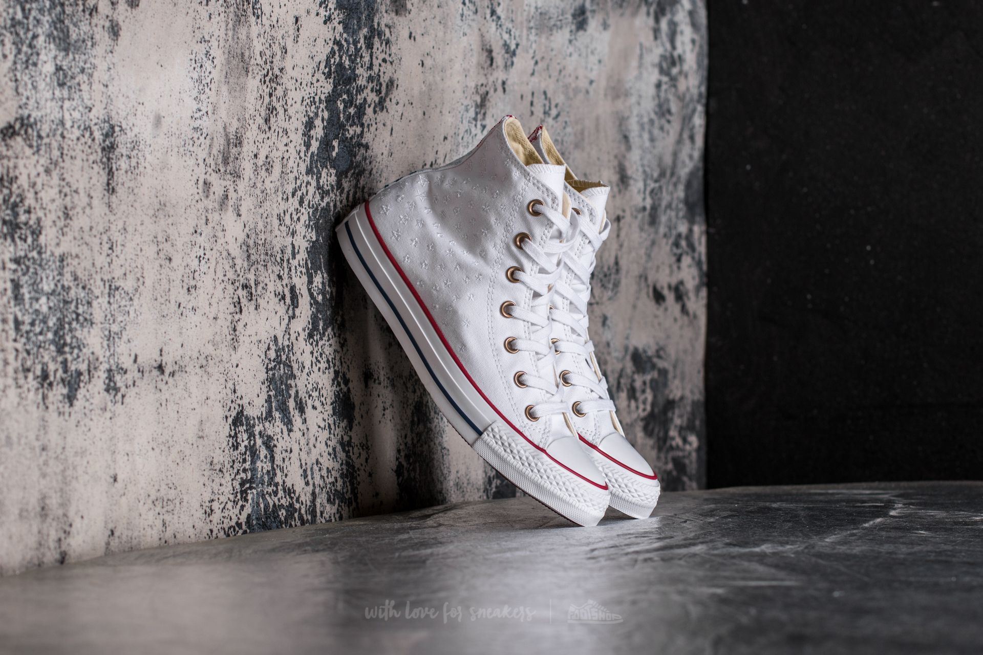Converse Chuck Taylor All Star Hi White/ Casino Red/ Insignia Blue Footshop – FR