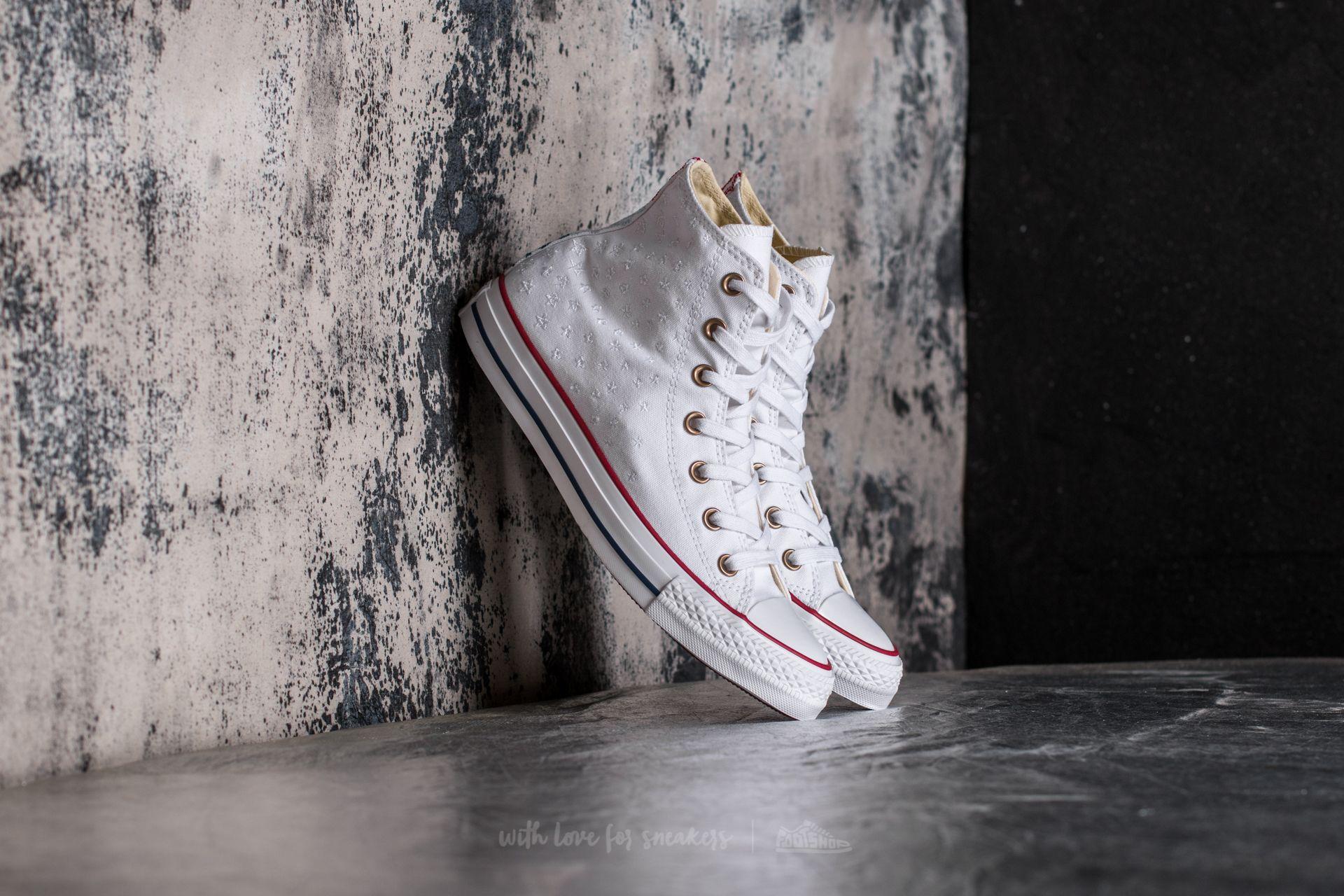 Converse Chuck Taylor All Star Hi White/ Casino Red/ Insignia Blue