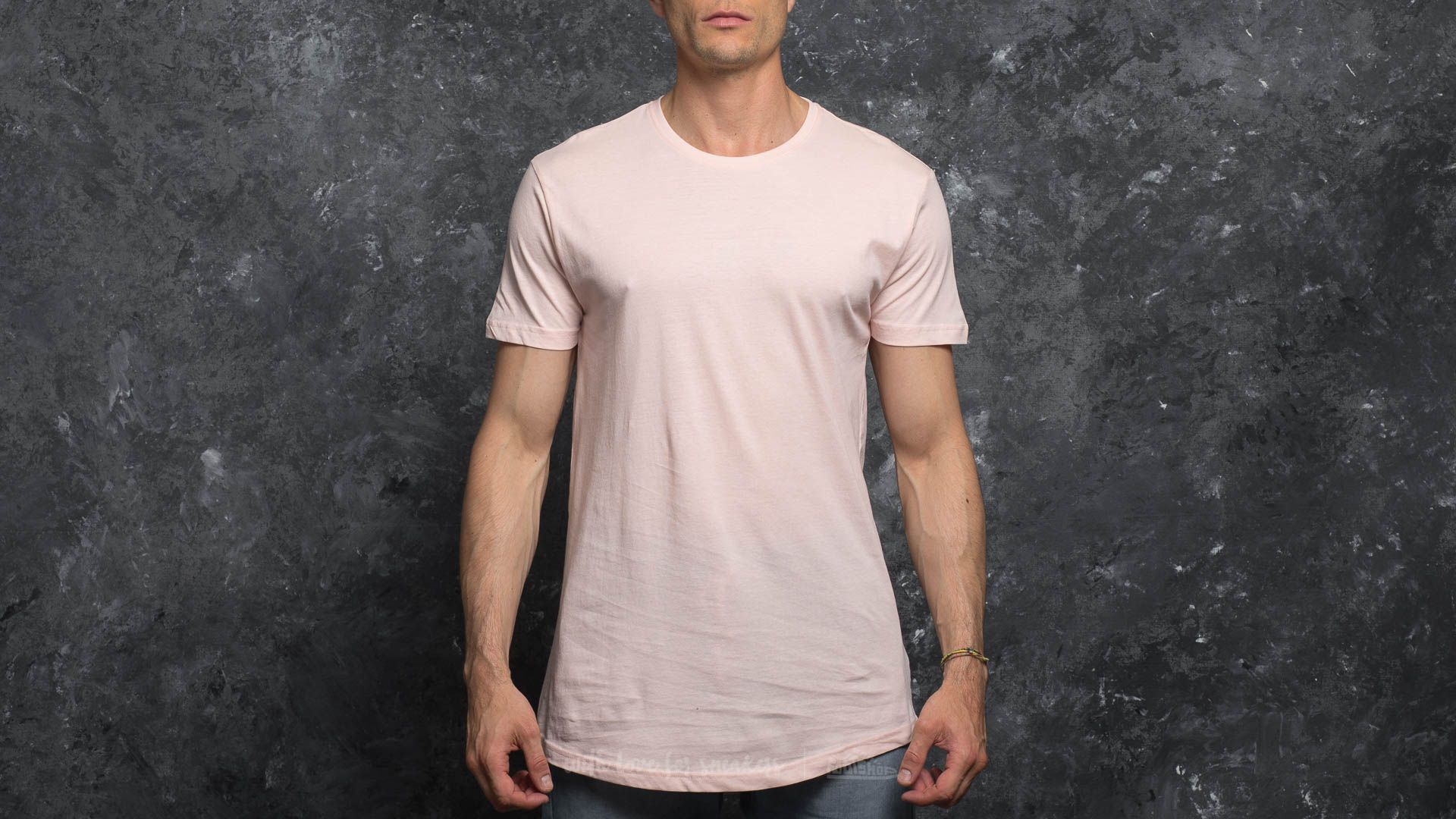 Urban Classics Shaped Long Tee Pink Footshop – FR
