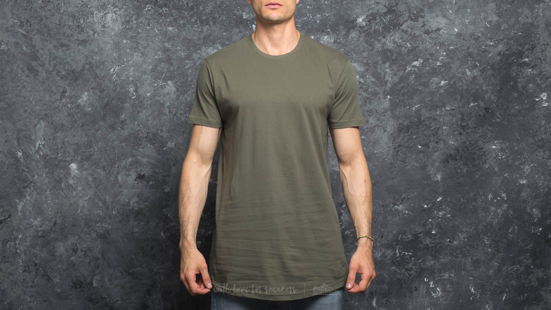 Urban Classics Shaped Long Tee Olive Footshop – FR