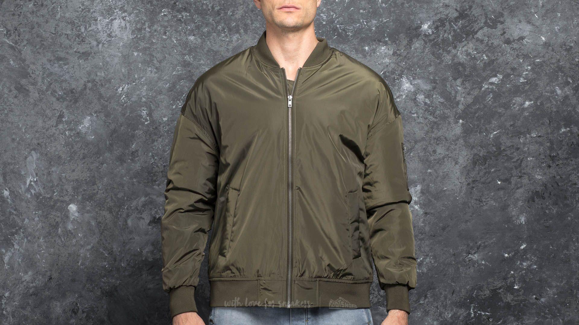 Urban Classics Oversized Bomber Jacket Dark Olive Footshop – FR
