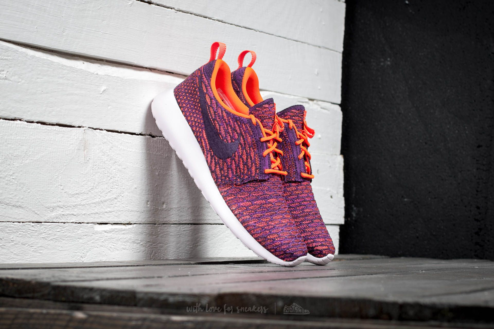 Nike Wmns Roshe One Flyknit Total Crimson/ Grnd Purple- Vvd Purple Footshop – FR