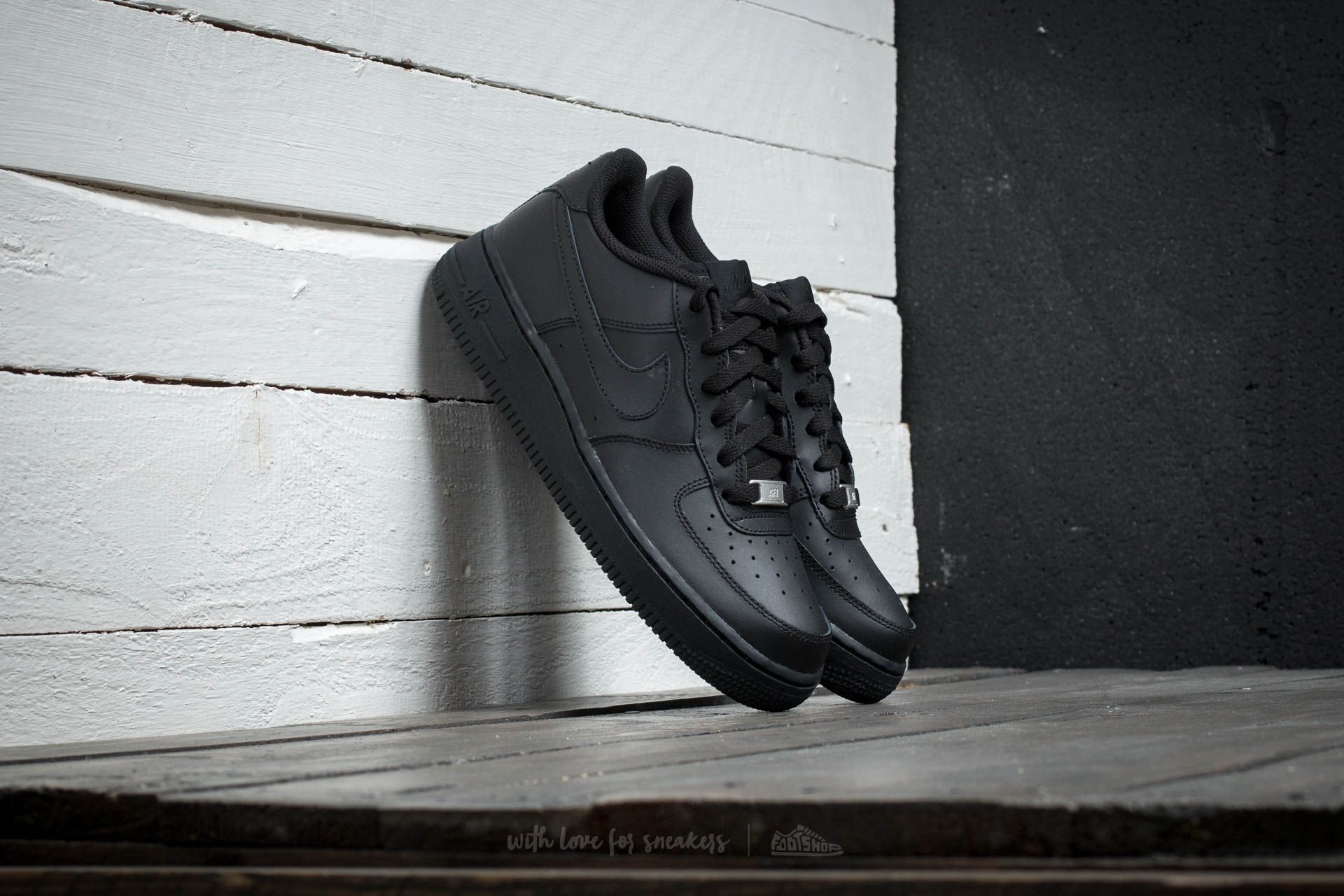 Nike Air Force 1 (GS) Black Footshop – FR