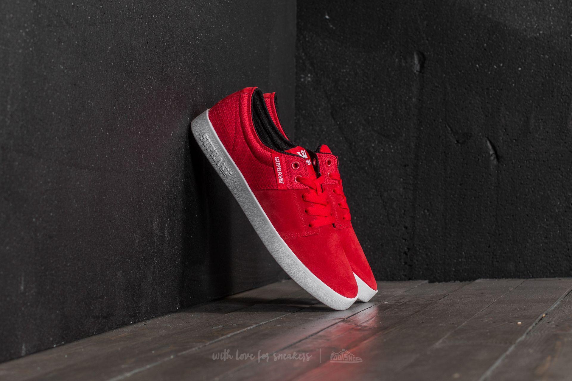 Supra Stacks II Red-White Footshop – FR