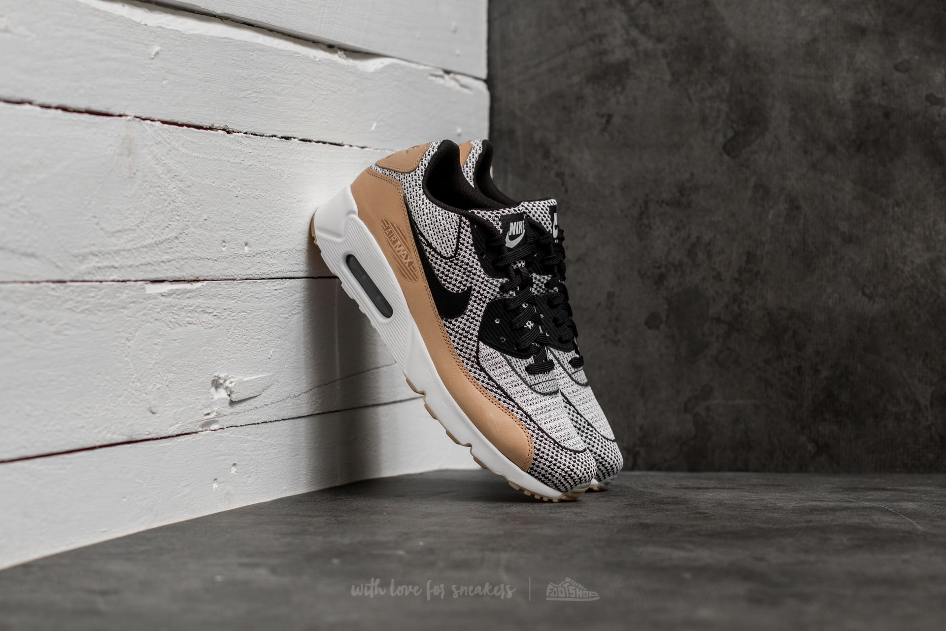 Nike Air Max 90 Ultra 2.0 JCRD BR White/ Black-White-Gum Yellow